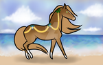A3327| Beach Bell Babe by IceHoovesAcres