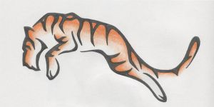 Tiger Tattoo Design by lmai