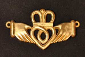 Claddagh Pendant - Brass by dfoley75