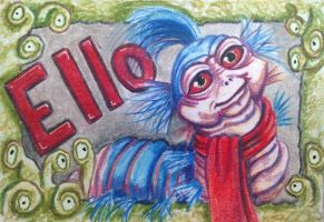 ACEO: Just A Worm by DanielleMWilliams