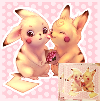 Pika-chu! stickers by kitfaced