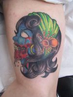Gypsy Zombie Tattoo finished by FunkyTrumpet1