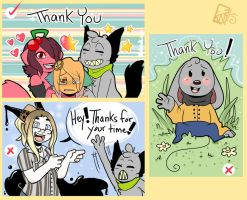 Thank You Stickers by Kinla