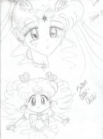 Sailor Cosmos and Chibi Chibi by Songstress-Lenne
