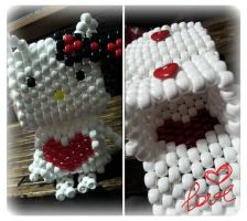 3d kandi hello kitty with compartments by BBEEAARR