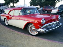 1957 Buick wagon front by Partywave