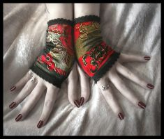 Lush Velvet Fingerless Gloves by ZenAndCoffee