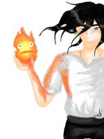 Howl and Calcifer by Alxmb