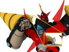 Chouginga Gurren Lagann Scale by Ultimatetransfan
