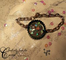 Butterfly Collection Flutterby Bottle Cap Bracelet by CreativityFTCorrupt