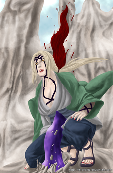 Tsunade on a stick by larsi-artz