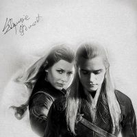 Tauriel and Legolas by IndieSkull