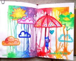 #151 May: Month of the summer rain by Doodle-of-the-day