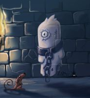 Little ghost in his dungeon by unlicho