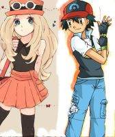 Ash x Serena - Made for a friend. by Kanto-Chan