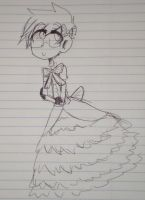 Seth in a frilly dress by MeowTownPolice