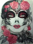 Day of the dead - lady of skulls by mus00