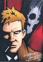 John Constantine sketch card by KidNotorious