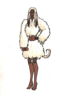 Afghan Hound Girl by MommaCabbit