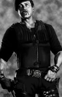 Stallone - Expendables by ManoelaWings