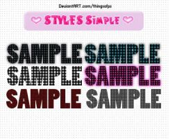 Styles Simples by thingsofps