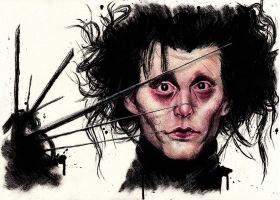 Johnny Depp as Edward Scissorhands by Drimr