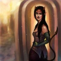 Tiefling by DancinFox