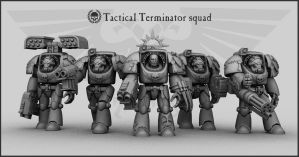Tactical Terminator squad by toneloperu