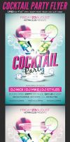 Cocktail Party Flyer Template 2 by Hotpindesigns