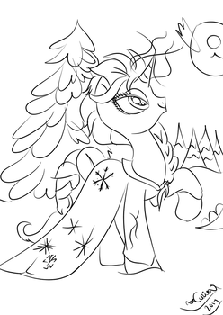 ponified sketch of Elsa (1) by XxCutiePie121xX