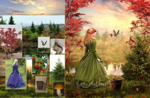 Gifts of Autumn Before and After by AliaChek