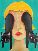 Cat Eyes by carrion-heart