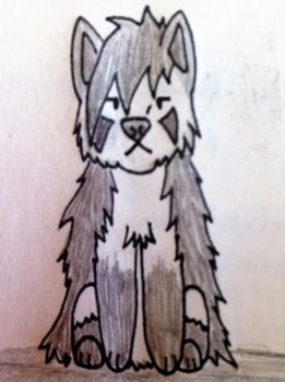 Maximus (Max) the Mightyena chibi by bestsk8eva