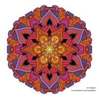 Latest Hand drawn Mandala coloured digitally by Mandala-Jim