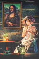 Tea Time with Monalisa by hellsign