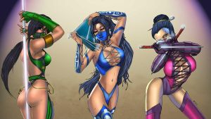 Ladies of Mortal Kombat by GreeneLantern
