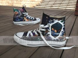 Doctor Who tardis high fashion canvas shoes by elleflynn