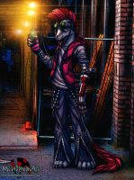 Meta Dragonart the Cyberpunk Weasel by MetaDragonArt