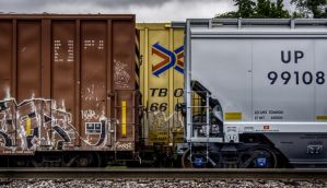 Dirty Old Railroad Cars by FabulaPhoto