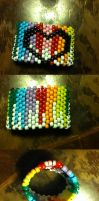 Kandi Cuff Bleeding Rainbow by Galialay