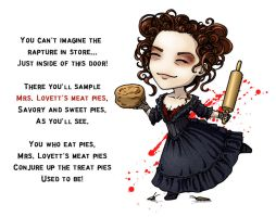 Mrs Lovett Chibi by Rowen-silver