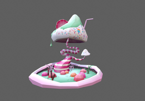 Low Poly Sugar Rush diorama by Cllaud