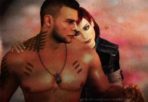 James Vega and FemShep by jehy07
