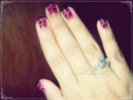 Leopard Print Nails by DivineWish
