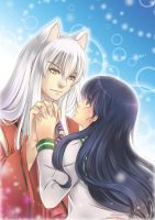 Inuyasha X Kagome - Commission by MaryCat83