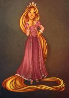 Tangled Colouring Page by Eminina