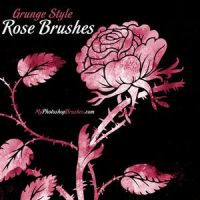 Free Grunge Style Rose Brushes by vnnexpress