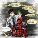 Re-Animator and...Deadpool? by moloko-plus