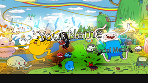 Adventure Time Style YT Banner by ItsSync