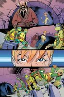 TMNT Animated #12 - PizzaPrize - page 02 color by SkySunnymQ